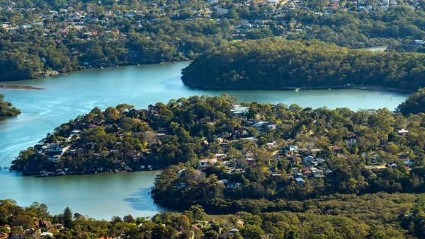 Georges River aerial view