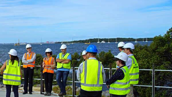Georges Riverkeeper and Member Councils site visit to Woolooware Bay to see the new walkway and discuss habitat creation
