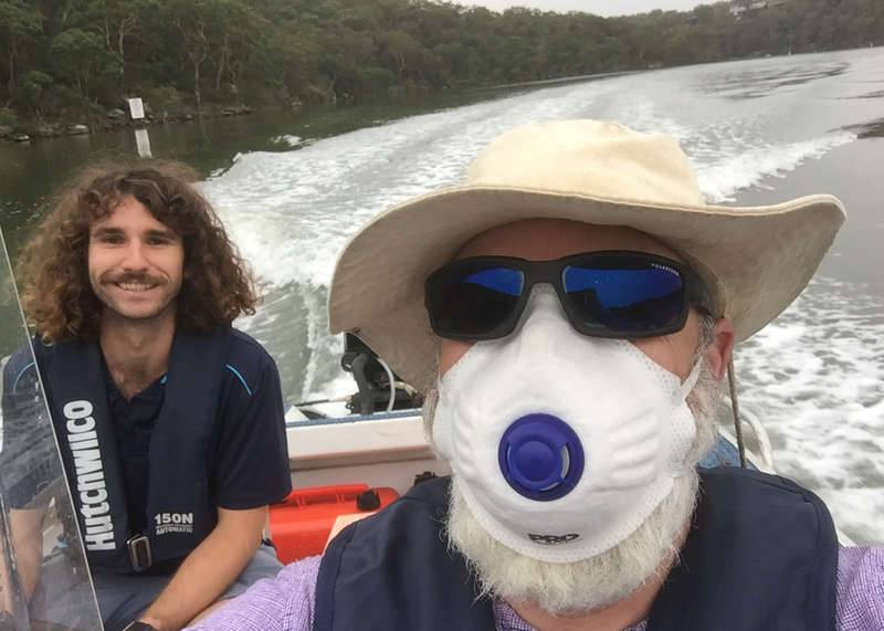 River Health monitoring on the Georges River in smoky conditions