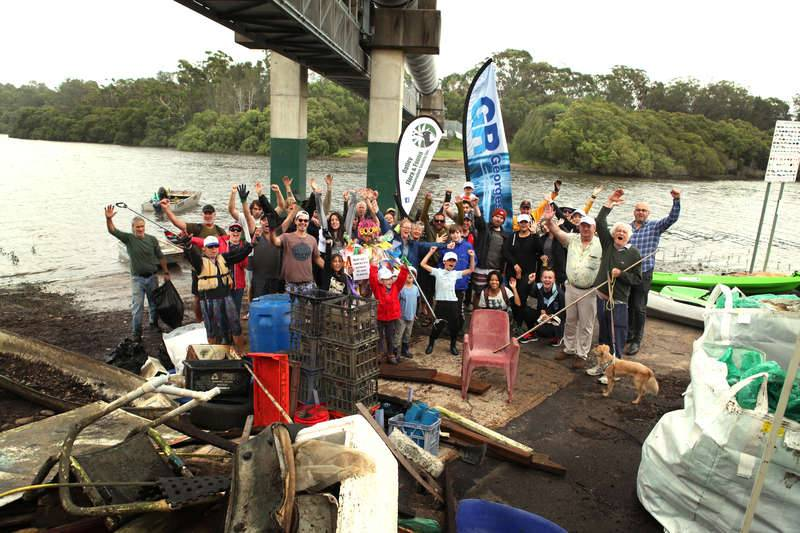 Volunteers at the Paddle Against Plastic Event on March 8