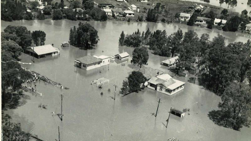 Flooding of the Georges River in 1956