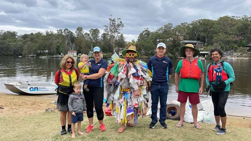 Clr Wong, Beth Salt and Oatly Flora and Fauna attend Georges Riverkeeper's Paddle Against Plastic Event