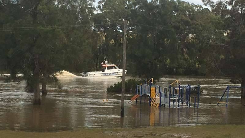 flooding of playground along Georges River