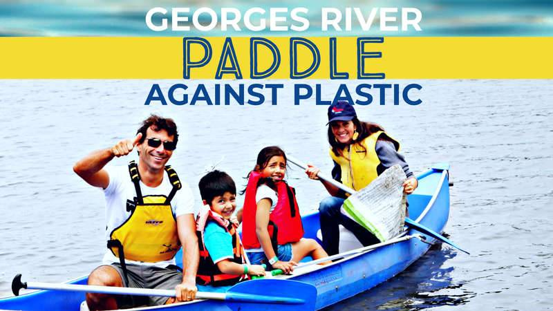 Georges River Paddle Against Plastic 2021 promotion