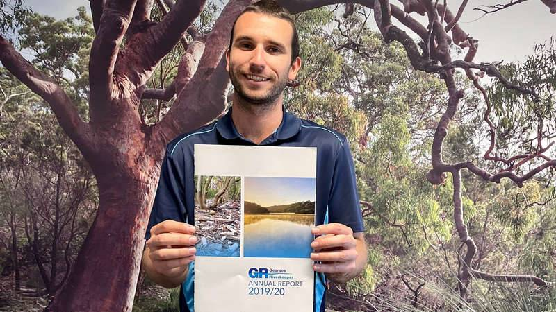 Robert Dixon with Georges Riverkeeper's Annual Report 2019/20