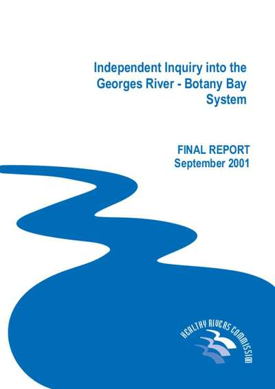 Independent Inquiry into the Georges River - Botany Bay System