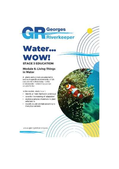 Georges Riverkeeper Stage 3 Education Module 6