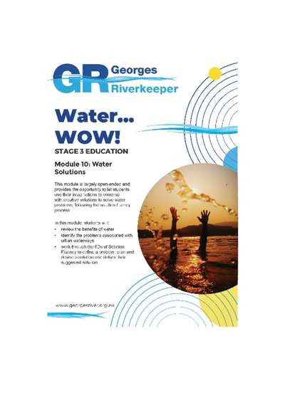 Georges Riverkeeper Stage 3 Education Module 10