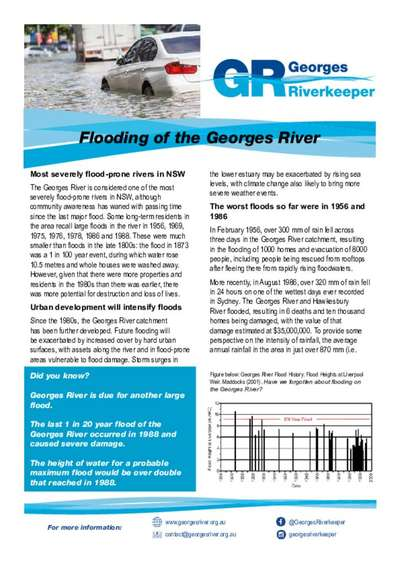 Flooding fact sheet